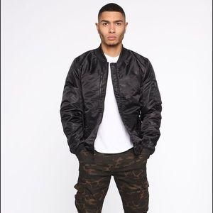 BRAND NEW Fashion Nova MEN black Bomber Jacket